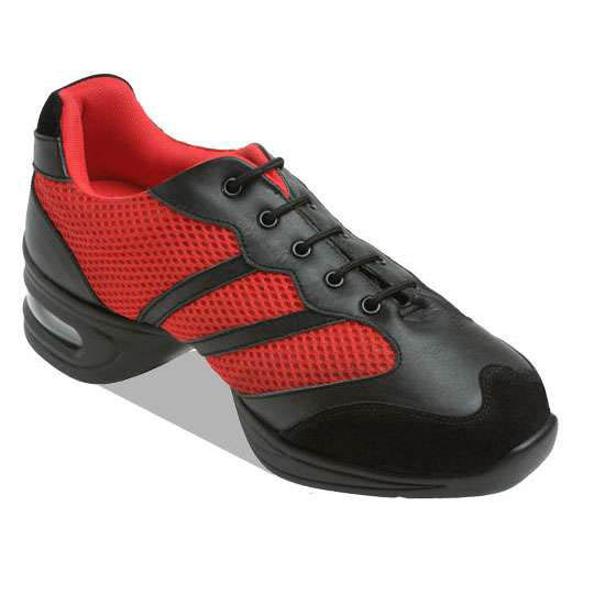 8008-Black & Red Trainer